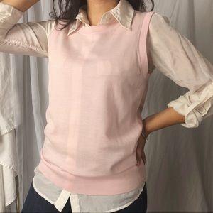 BANANA REPUBLIC/ pink sweater vest